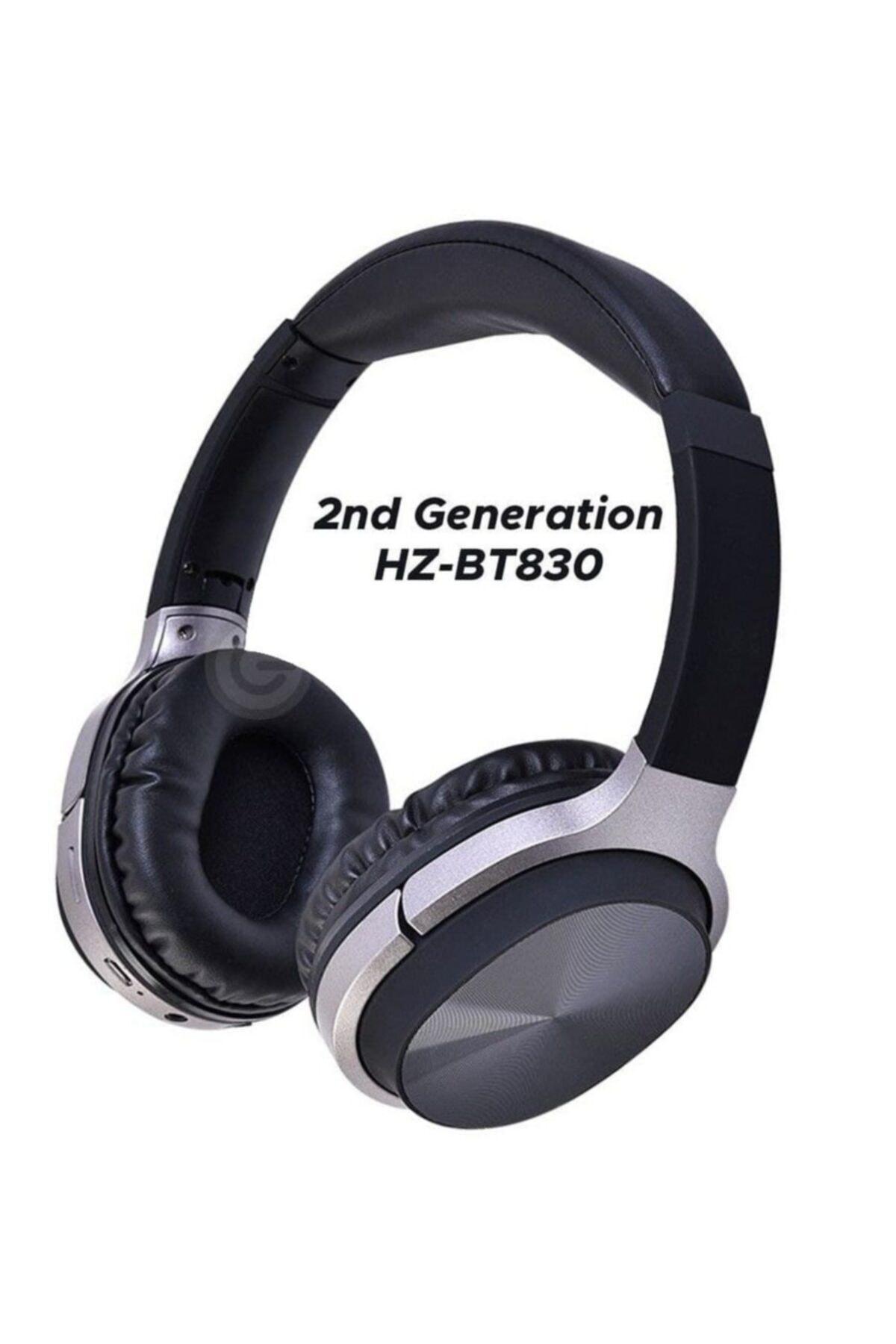 Hz830 Bt Süper Kalite Kablosuz Bluetooth Kulaklık 5.0 Gürültü Azaltıcı Kulak Üstü Kulaklık - Siyah