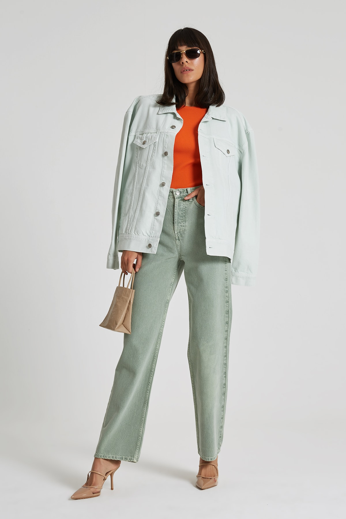 Diana Yüksek Bel Dad Straight Fit Renkli Jean Pantolon C 4517-019