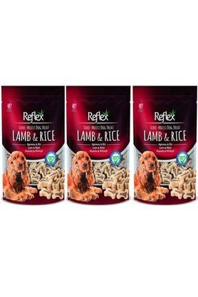 Reflex Kuzu Etli Ve Pirinçli Küçük Irk Köpek Ödülü 150 gr 3'lü Set 0