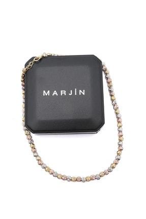 Marjin Kadın Beyaz Altın Dorika Taşlı Renkli Kolye 4