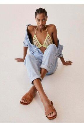 Mango Kadın Deri Bantlı Sandalet 1