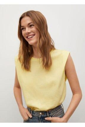 Mango Kadın Organik Pamuklu T-shirt 0