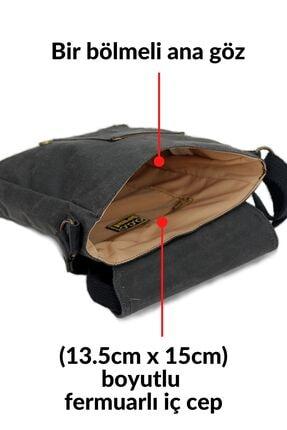 Old Cotton Cargo 7059 S Pretty Su Geçirmez Kumaş Omuz - Mini Laptop - Postacı Çantası 3