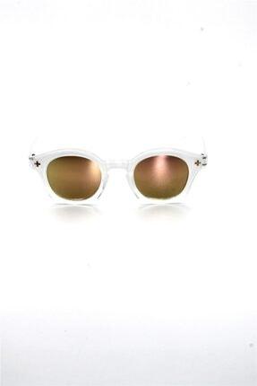 Çocuk Organik Camlı Uv400 Beyaz Kız Çocuk Güneş Gözlüğü 3smc40214cr006 resmi