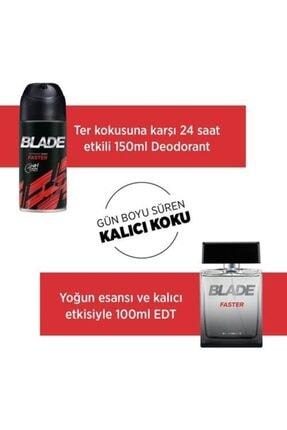 Blade Faster Edt 100 ml + 150 ml Deodorant Erkek Parfüm Seti 8690586015639 3