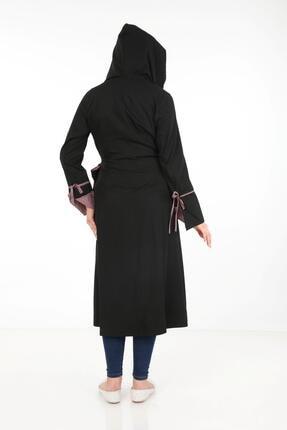 Işşıl Kadın Siyah Bağlamalı Pardesü 3