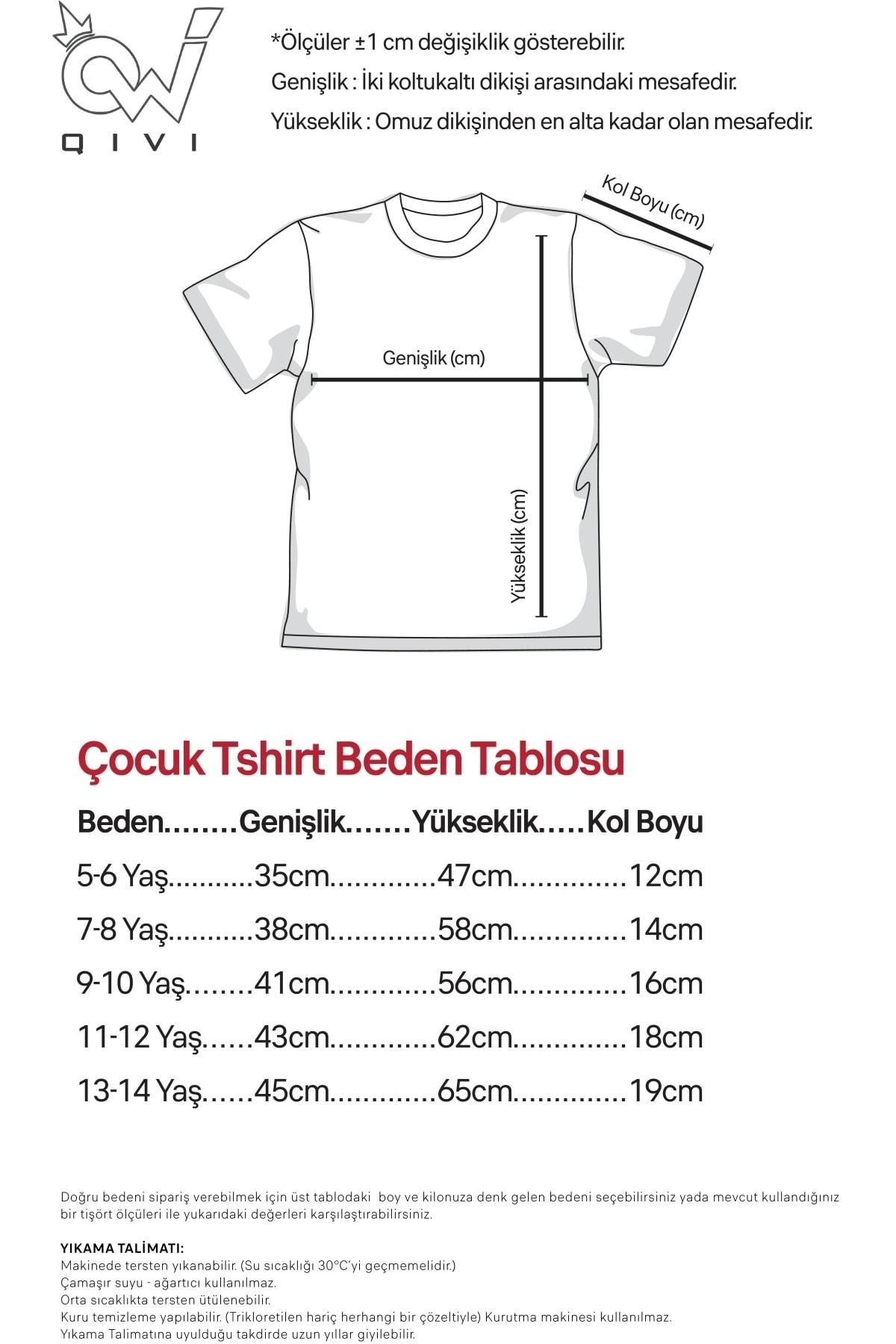 QIVI Erkek Çocuk Beyaz Tik Tok Logo Baskılı  T-shirt