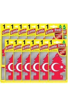 Car Freshner Little Trees Türk Bayraklı Vanilya Oto Kokusu 12 Adet 0