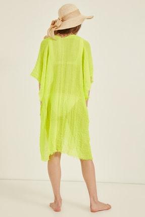 Y-London Kadın Neon Yeşil Pareo 13479-2 3