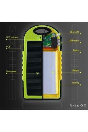BLUE İNTER Solar Güneş Enerjili Powerbank 15000 Mah Şarj Aleti Led Işıklı 3