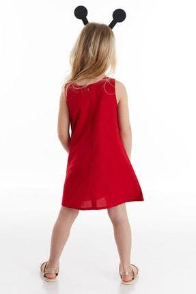 Denokids Kız Çocuk Kırmızı Uğur Böceği Kız Elbise 1