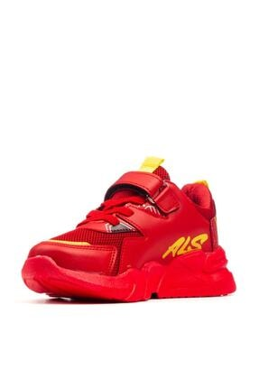 Alessio Unisex Kırmızı Çocuk Okul Ve Spor Ayakkabı 2