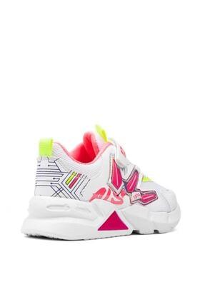 Alessio Kız Çocuk Beyaz Fuşya Yazlık Spor Ayakkabı 4