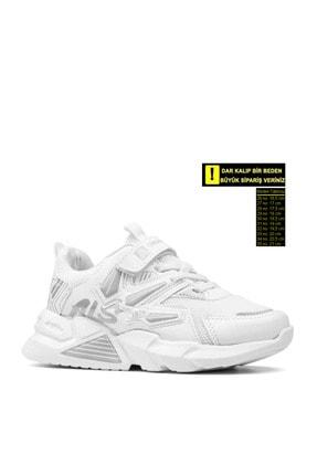 Alessio Unisex Beyaz Çocuk Spor Ayakkabı Yazlık Sneaker 0