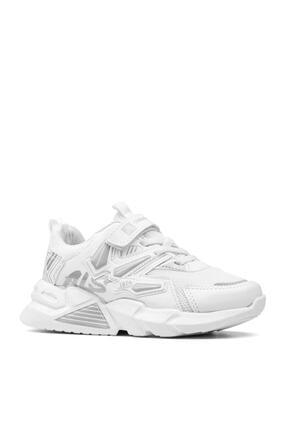 Alessio Unisex Beyaz Çocuk Spor Ayakkabı Yazlık Sneaker 1