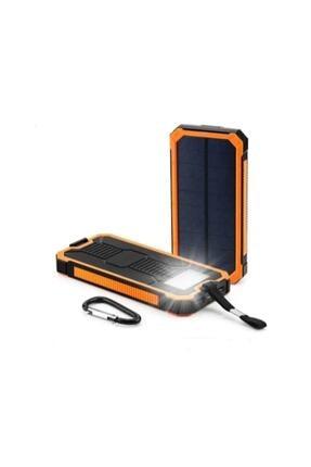 Angel Eye 12.000 Mah Solar Güneş Enerjili Powerbank Kamp Tipi Led El Feneri 0