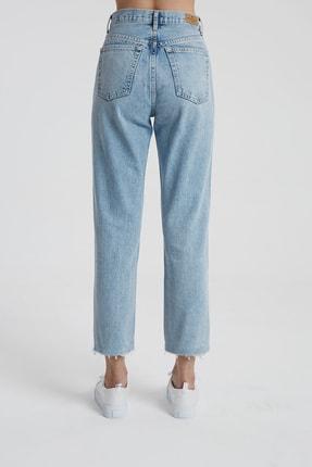 CROSS JEANS Elıza Cropped Açık Mavi Paçası Kesikli Straight Cropped Fit Jean Pantolon C 4518-007 2