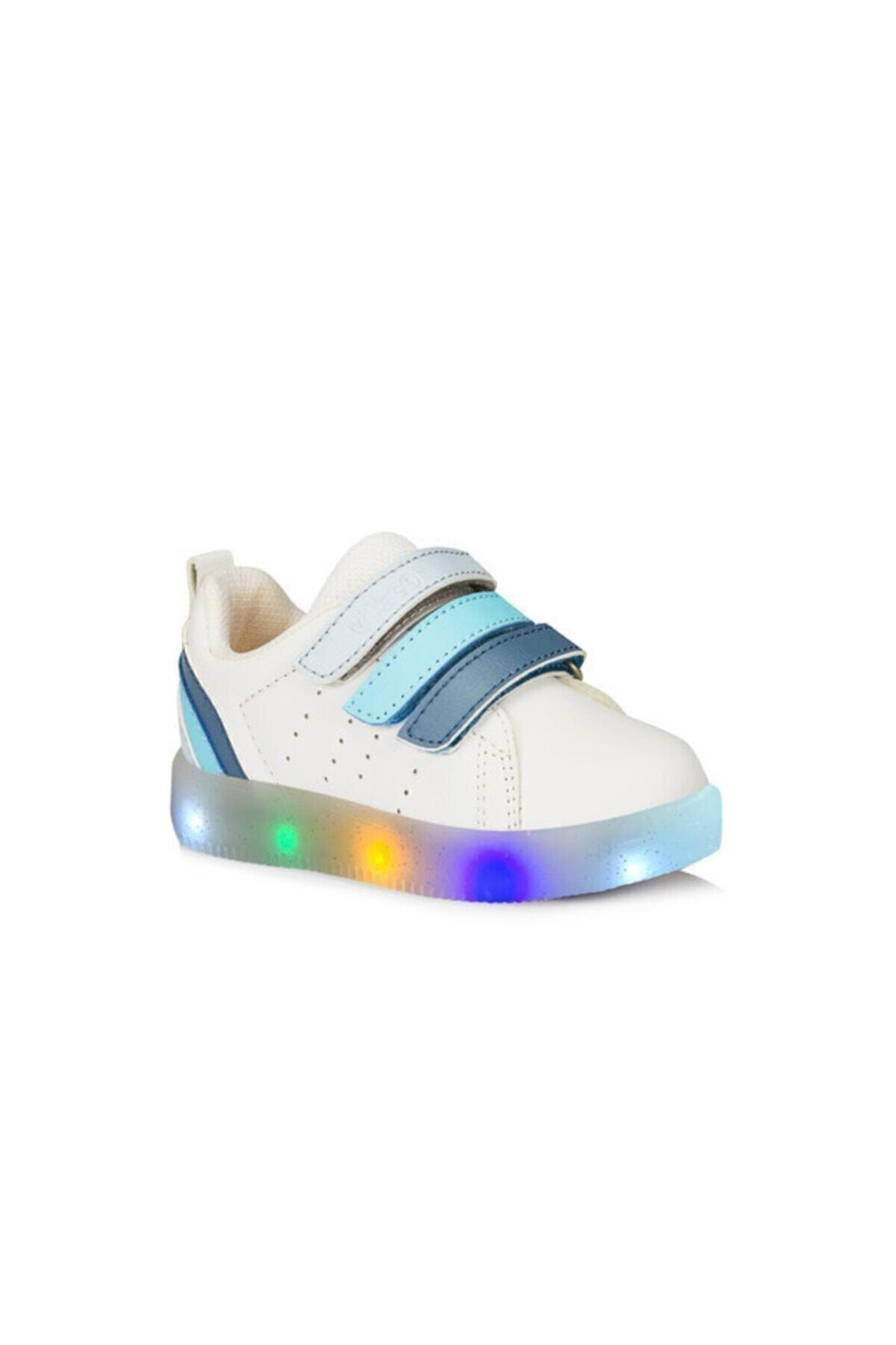 Çocuk Işıklı Ayakkabı Beyaz/mavi Sun 220.b21y.212