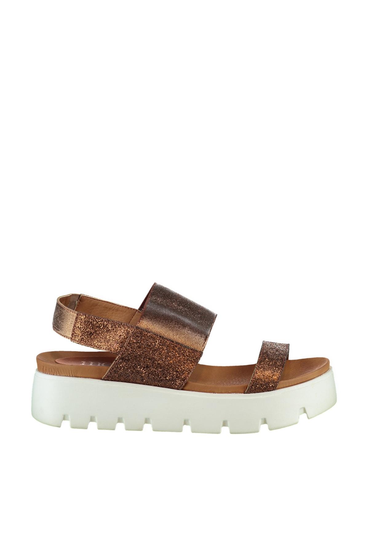 Hakiki Deri Bronz Kadın Sandalet 120130000204