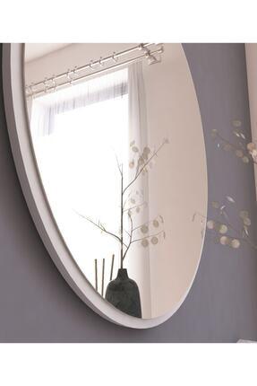MONEayna Dekoratif Yuvarlak Ayna Beyaz Antre Hol Koridor Duvar Salon Mutfak Banyo Wc Ofis Aynası 3