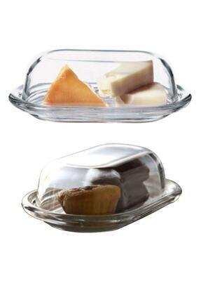 Paşabahçe 2'li Cam Basic Kapaklı Tereyağlık Peynir Tereyağ Kahvaltılık Saklama & Sunum Kabı 1
