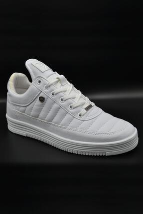 L.A Polo 07 Beyaz Dikişli Unisex Spor Ayakkabı 1