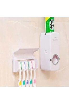 Otomatik Diş Macunu Sıkacağı Ve 5'li Diş Fırçalığı DİŞ MACUN SETİ
