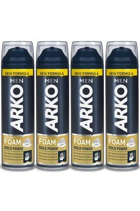 Arko Men Men Tıraş Köpüğü Gold Power 4x200ml 0