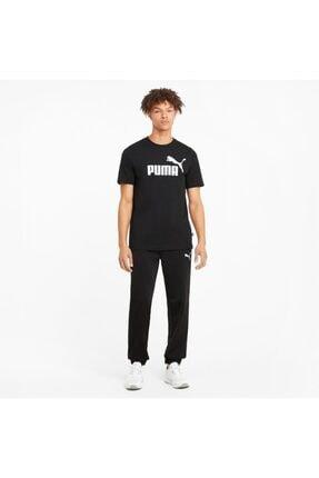 Puma Ess Logo Tee Erkek T-shirt Black 586666-01 0