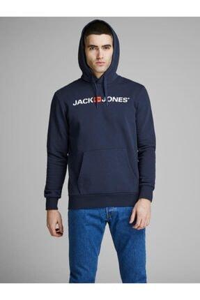 Jack & Jones Jack&jones Erkek Baskılı Kapüşonlu Sweatshirt 12137054 0