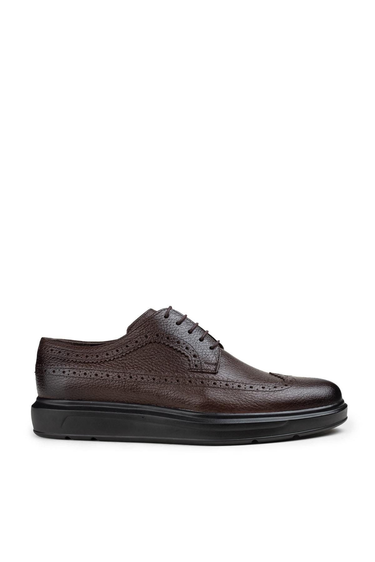 Hakiki Deri Kahverengi Günlük Comfort Erkek Ayakkabı