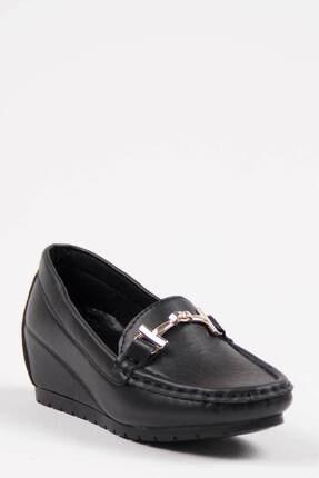 Oioi Kadın Siyah  Dolgu Topuklu Ayakkabı 1