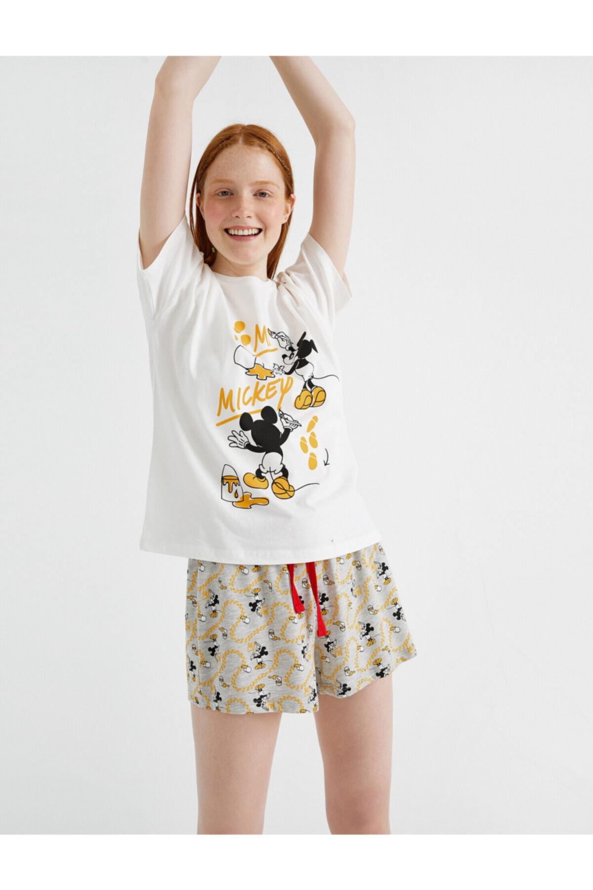 Kadın Ekru Pijama Takımı