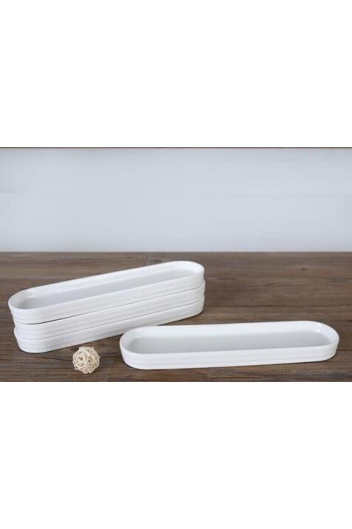 Porselen Oval Sunum Tabağı