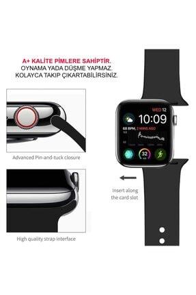 Cimricik Apple Watch Kordon 2 3 4 5 Seri 38 mm Ve 40 mm Silikon Kordon Kayış 2
