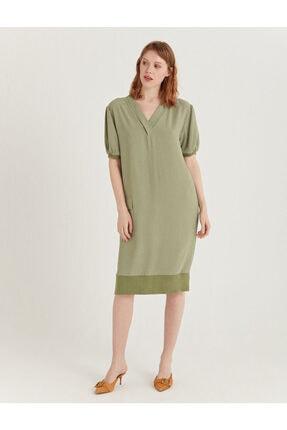 Su Yeşili Ribanalı Elbise S21D158_PASTEL GREEN