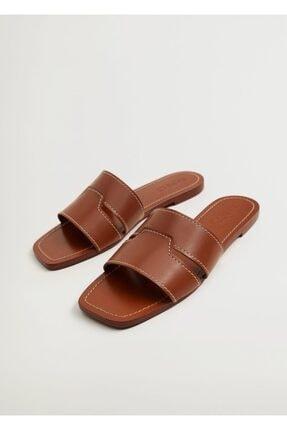 Mango Kadın Deri Bantlı Sandalet 0