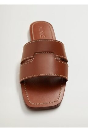 Mango Kadın Deri Bantlı Sandalet 3
