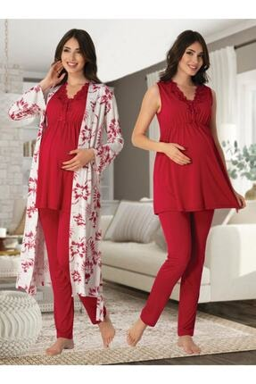 Effort Pijama Zerre Bebe Kadın Lohusa Hamile Pijama Takım Sabahlık 0