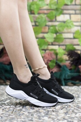 Riccon Unisex Siyah Beyaz  Sneaker 4