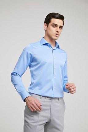D'S Damat Erkek Slim Fit Gömlek Mavi 2HF02ORT4185_703 0