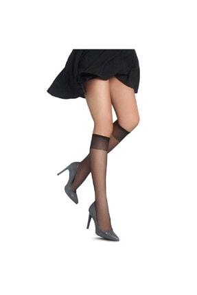 6 Adet Fit 15 Parlak Siyah Pantolon Çorabı 15 Denye resmi