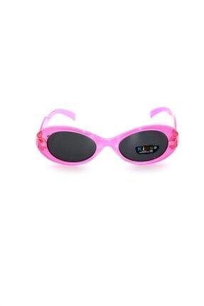 Çocuk Organik Camlı Uv400 Açık Pembe Kız Çocuk Güneş Gözlüğü 3smc6061r005 resmi