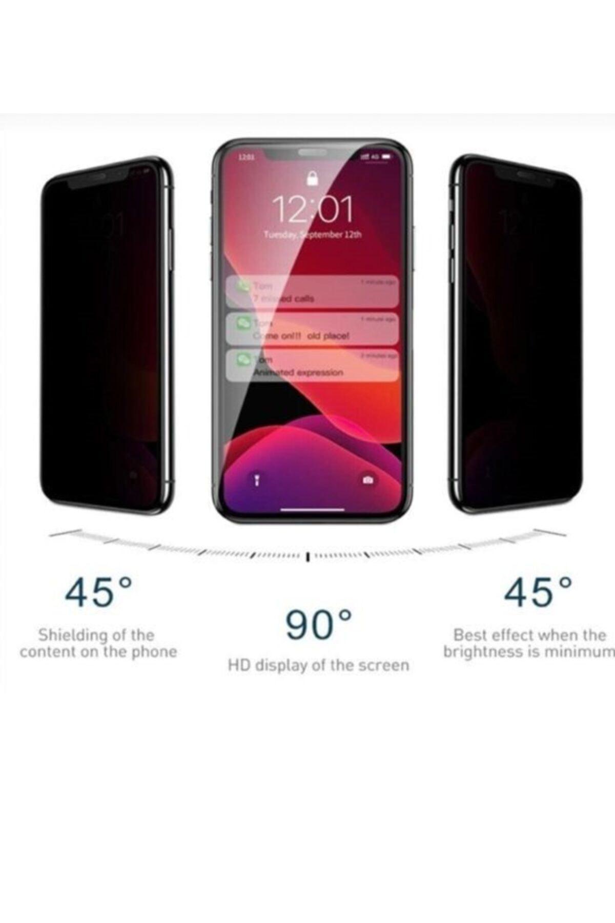 Iphone 11 Gizli Hayalet 5d Tam Kaplayan Kırılmaz Cam ( Siyah ) Ip11-privacy-sıyah