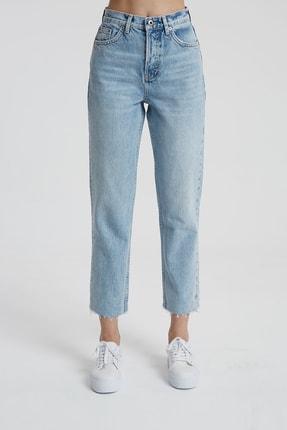 CROSS JEANS Elıza Cropped Açık Mavi Paçası Kesikli Straight Cropped Fit Jean Pantolon C 4518-007 1