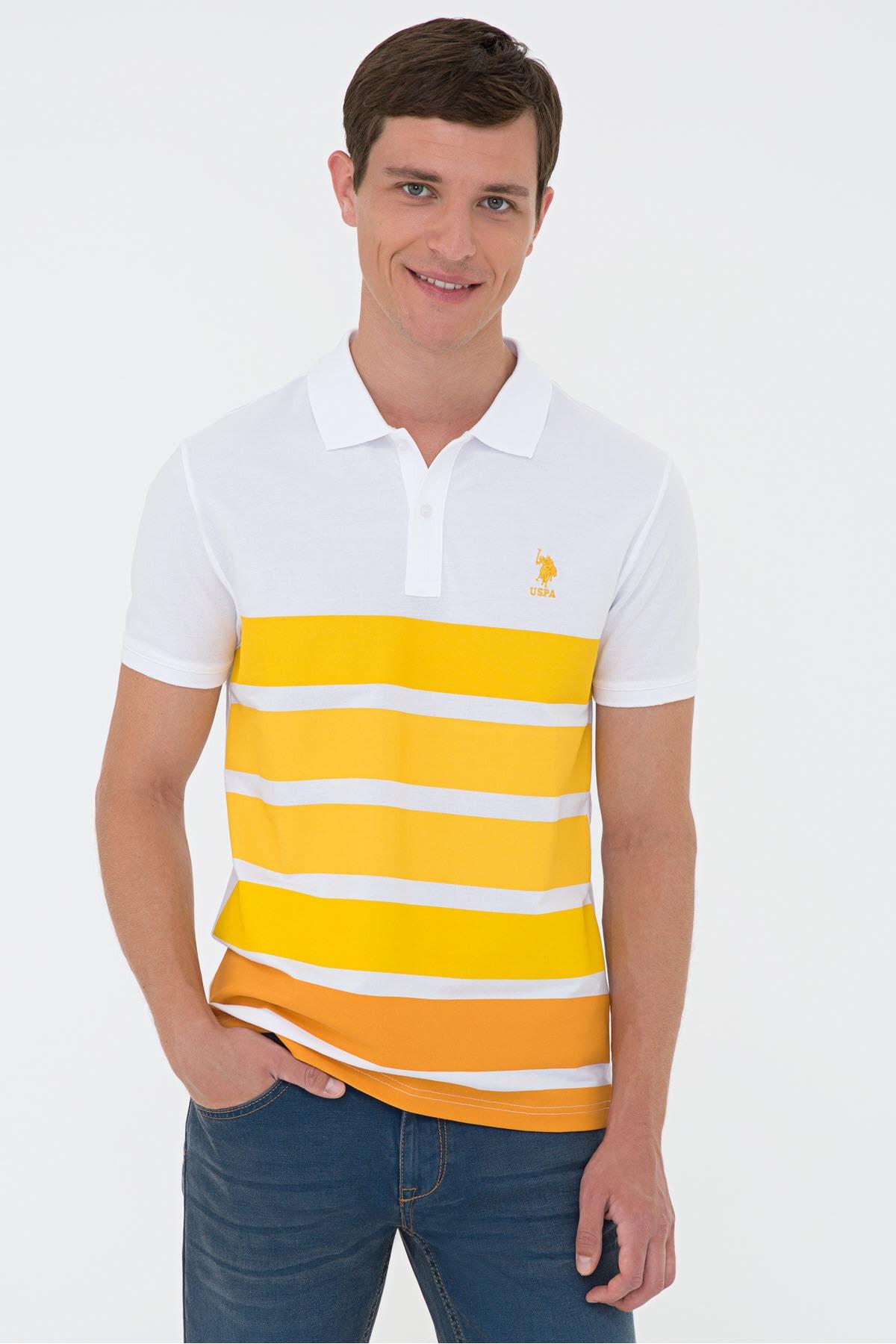 Sarı Erkek T-Shirt