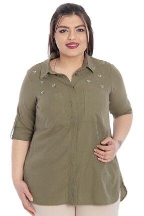 تصویر از Arı Işlemeli Cepli Keten Gömlek
