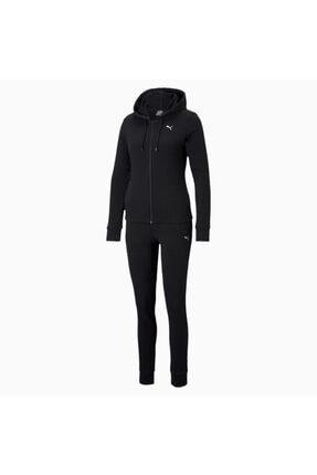 Puma Kadın Kapüşonlu Sweatshirt Takım Classic Hd - Siyah 0