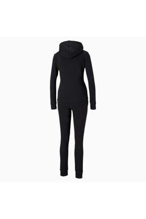 Puma Kadın Kapüşonlu Sweatshirt Takım Classic Hd - Siyah 1