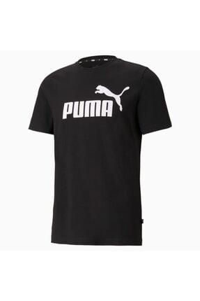 Puma Ess Logo Tee Erkek T-shirt Black 586666-01 1